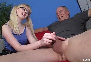 Slutty young whore wants this old male's huge dick prevalent their way ass
