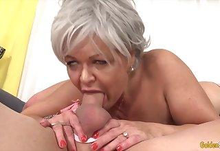 GoldenSlut - Older Ladies Act off Their Cock Sucking Skills Compilation 19
