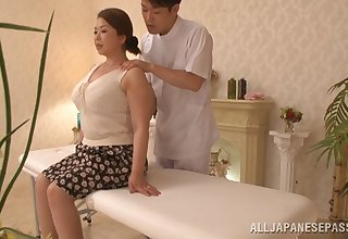 Chubby Asian model Natsuko Kayama massaged and fucked hopes