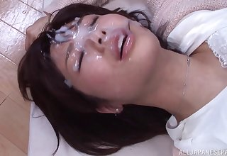 Wild MMF threesome between amateur guys and sexy Tsukasa Aoi