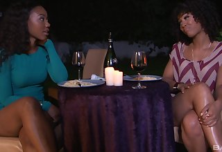 Tribade sex the final blow sexy ebony pornstars Misty Stone & Chanell Constituent
