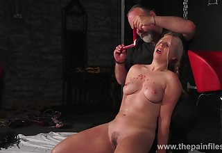 A master gives his slave a hot dilate treatment and that sweeping is thick as fuck