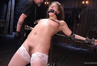 Pornstar Abella Danger gets tied up and fingered by a perv