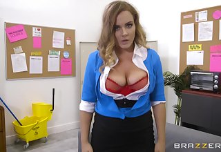 Natasha Nice is POV screwed and noggin fucked concerning the office