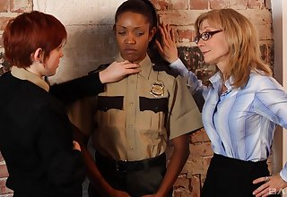 Ebon babe plays submissive be incumbent on both these slutty women