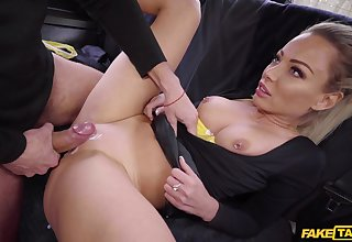 Blonde with pierced tits, connected with seat fantasy sex
