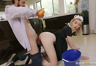 Balls deep pussy and ass fucking be useful to blonde darling Anny Aurora