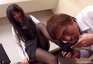 Aroused Japanese office infant removes throughout clothed for a nice pantyhose fetish