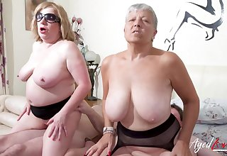 AgedLovE Busty British Matures Unending Group Sex