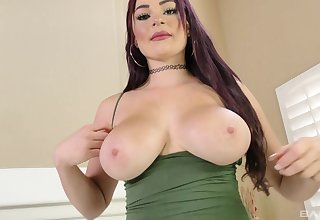 Man's huge steel cock masters this busty babe the right way