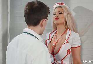 Hardcore fucking between a doctor and naughty nurse Brooklyn Blue