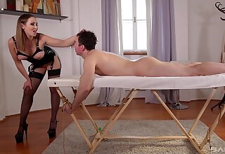Accompanying male pleases the mistress with the right inches