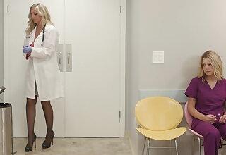 Big tit milf doctor julia ann fucks her new nurse adjacent to big naturals gabi