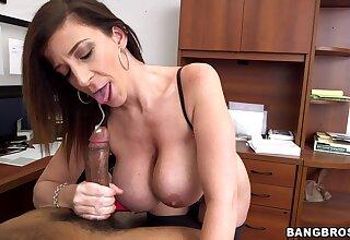 Smoking hot MILF Sara Jay gets her hands on a big black cock