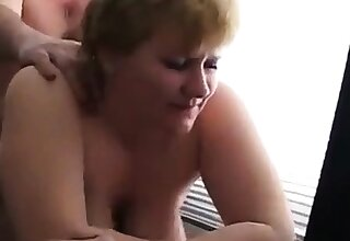 Fuck fat mature in the office