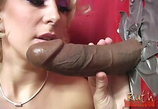 Blonde sluts Ruth Blackwell and Sophie Dee on every side turns sucking a BBC