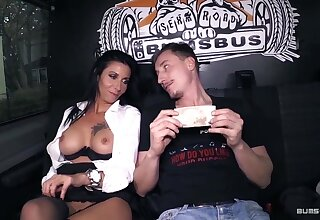 BumsBus - Mature German gets plowed in the backseat of a trainer