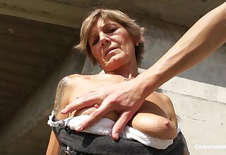 Slutty GILF lets a young man touch something he shouldn't and she loves dig up