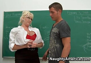 Mature Teacher with fat ass gets Anal in detail in classroom