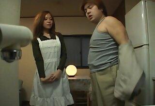 Naughty Japanese maid gets fucked by her big cheese - Karen Hayashi