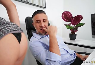 Pure lust at the office with the progressive secretary