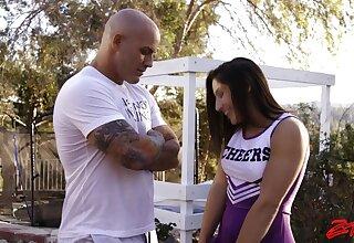 Cum loving cheerleader Abella Danger gets fucked by a stud