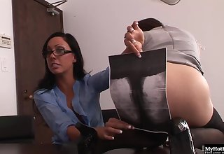 April Oneil and Tiffany Brookes got caught getting naught on the copy machine.