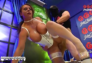 Super Busty MILF Sexy Susi gets her massive tits Creamed - G