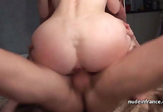 Amateur Big boobed milf hard sodomized in threeway