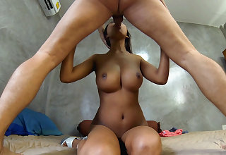 After sucking his cock and letting him fuck me raw I swallow