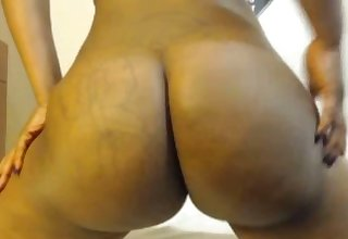 Chocolate black princess plays magic black ass