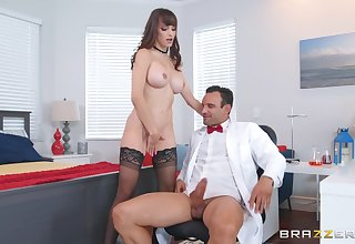 Office doggy fuck with Lexi Luna getting cum on her huge tits