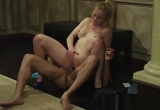Naughty Escort Kayden Kross knows howsoever to work a cock