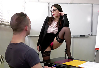 Sinful DP threesome with teacher