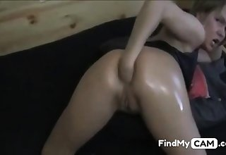 Peaches Pet Fisting Her ASS