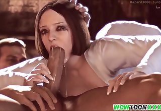 Amazing game heroes rate sex hammering session and blowjob on big dicks