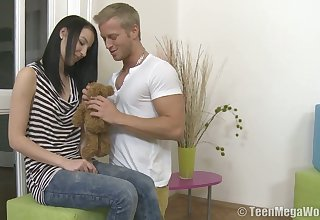 Incredibly rapacious Krystyna gives sensual blowjob and rides fat prick greedily