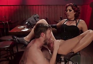 Shemale anal banged after strip poker