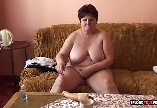 Mature fat lady solitary had to take off her clothes once she was the camera.
