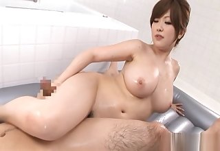 Rio Hamaski Criminal Japanese babe Is Playing In Along to Bath With Her Guy