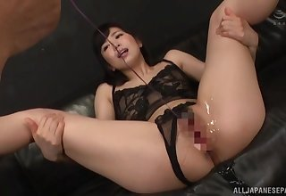 Hard Japanese toying and sex for amazing Miyamura Nanako