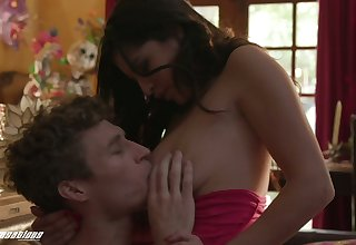 Stunning Latina babe Gabriela Lopez is making love with hot blooded frizzy pretty urchin