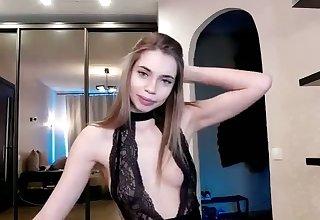 cute 18yo sweeping having fun on webcam and loves masturbating