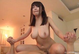 Busty Asian Kirishima Sakura is the real dexterous be proper of ensign fuck
