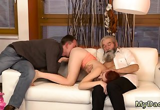 Two blondes and glum oiled Unexpected practice with an