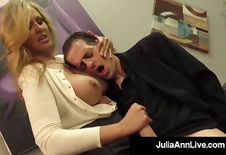 Julia Ann is a having it away blondie female, who loves regarding touch boners and make them herd out