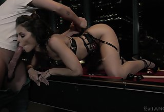 Spoiled chick Adriana Chechik gets fucked together with jizzed by one kinky consumer