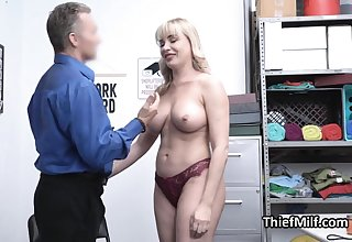 Defalcation MILF busted and punished wide of horny guard