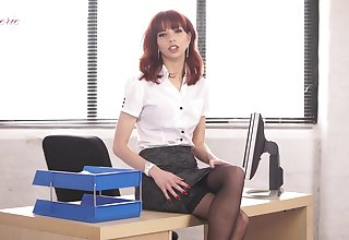 That office whore is a talent in all directions mankind with an increment of she loves getting naked at work