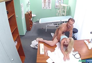 Order about young tow-haired tries her doctor for a few sex rounds